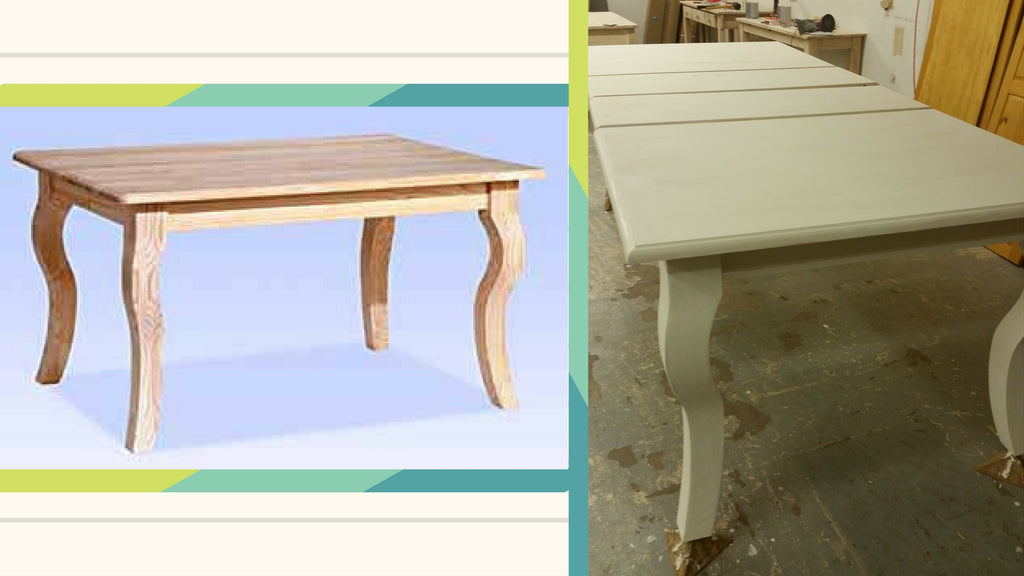 diy furniture, Solid Pine Table with Parisian Legs, unfinished furniture, unfinished furniture expo, diy furniture project