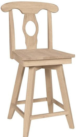 Unfinished Furniture Expo Empire Unfinished Swivel Counterstool