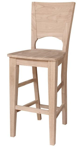 Unfinished Furniture Expo Canyon Unfinished Hardwood Bar Stool