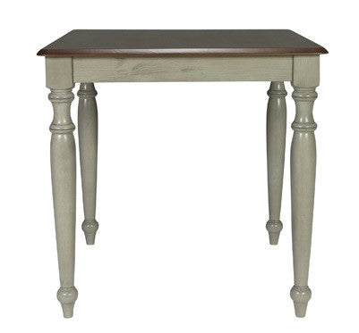 "Bridgeport Square Farmhouse High Table 36"" x 36"" (Finish Options) - UnfinishedFurnitureExpo"