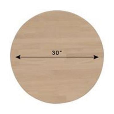 "30"" Round Solid Hardwood Table Top (Finish Options) - UnfinishedFurnitureExpo"