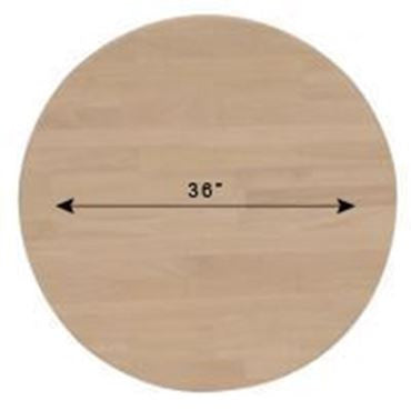 "36"" Round Solid Hardwood Dining Table Top (Finish Options)"