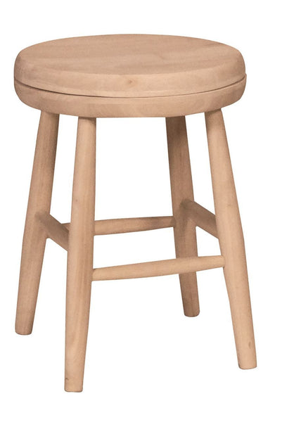 "Scooped Seat Swivel Stool - 18"" (Set of 2)"