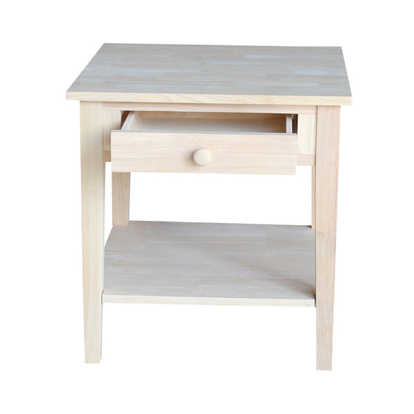 Spencer Hardwood End Table - 24""