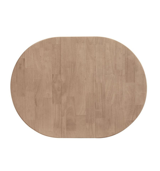 "36"" Round Hardwood Dining Table Top with Leaf That Extends to 48"" (Finish Options) - UnfinishedFurnitureExpo"