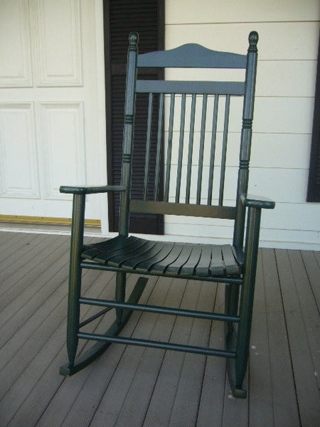 Linville Solid Hardwood Adult Slat Seat Rocker (Finished Options)