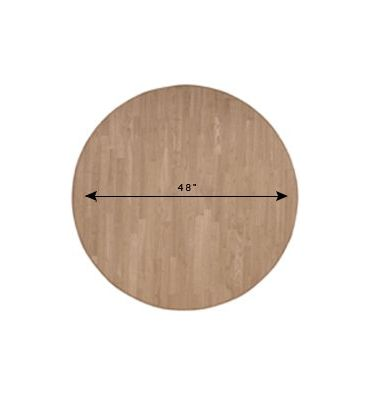 "48"" Round Solid Hardwood Dining Table Top - UnfinishedFurnitureExpo"