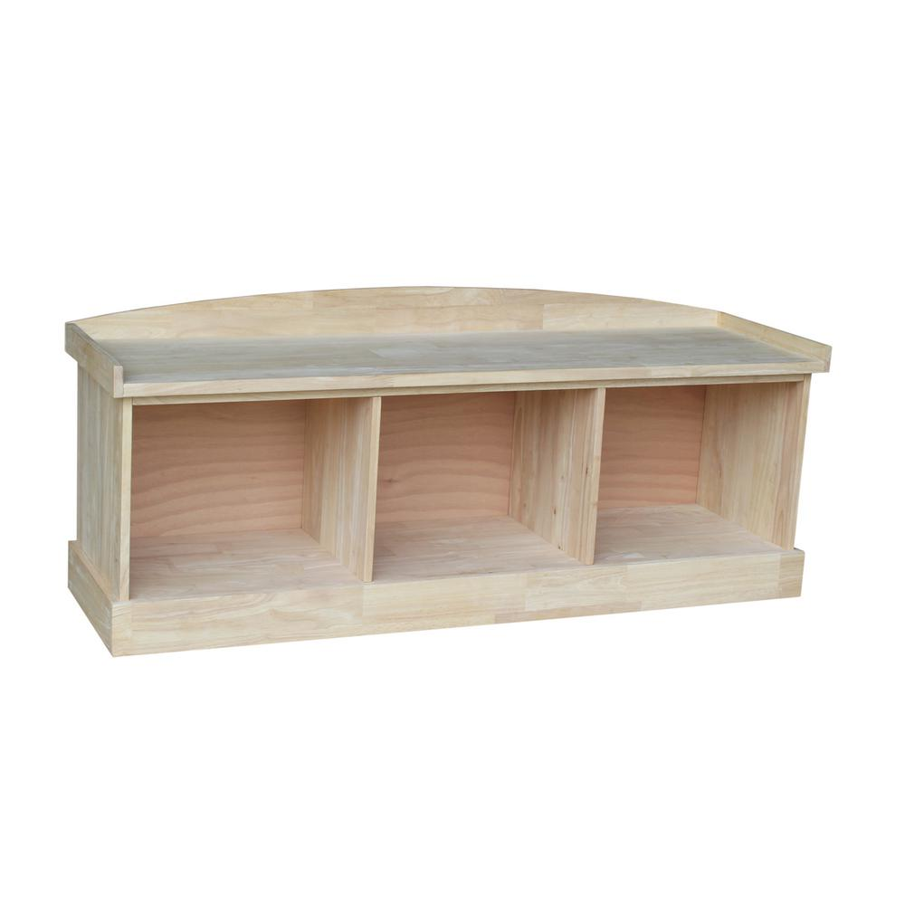 Hardwood Entry Bench With 3 Cubbies Free Shipping Be 150