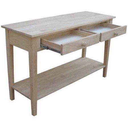 "Spencer Hardwood Unfinished Sofa Table (48"" Wide)"