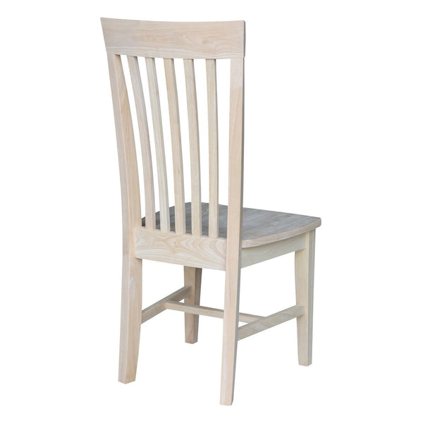 Tall Slat Back Mission Hardwood Dining Side Chairs - 2 Pack (Finished Options)