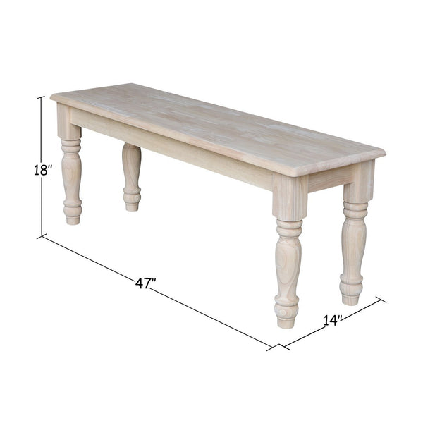 Solid Hardwood Farm House Bench - 47""