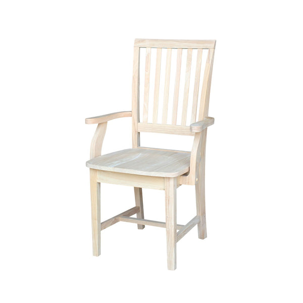 Mission Hardwood Dining Arm Chair