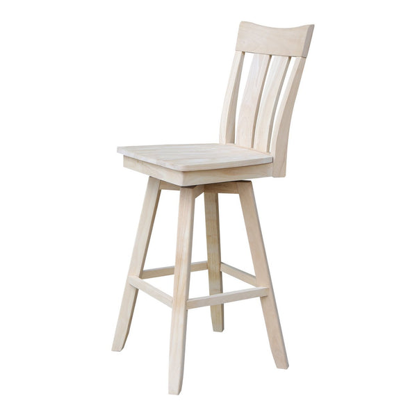 "Ava 30"" Hardwood Bar Stool - UnfinishedFurnitureExpo"