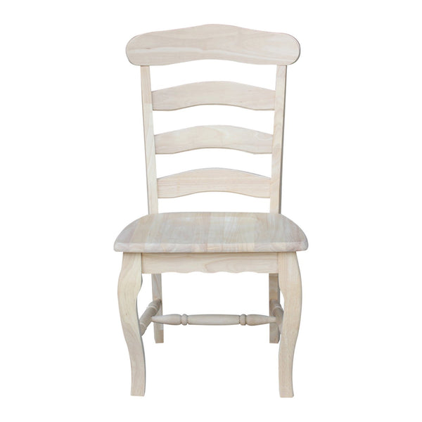 Country French Hardwood Dining Chairs - 2 Pack - UnfinishedFurnitureExpo