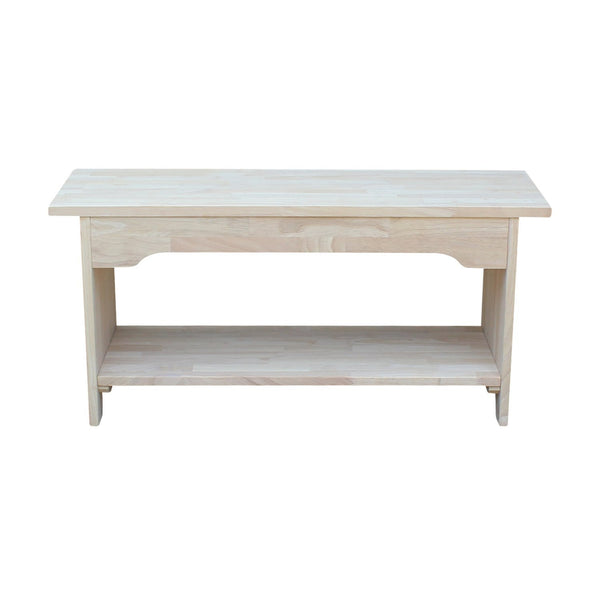 Brookstone Unfinished Bench 36 Quot Free Shipping Be 36