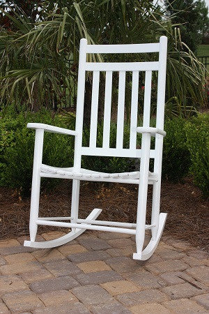 Tryon Solid Hardwood Jumbo Adult Porch Rocking Chair (Finish Options) - UnfinishedFurnitureExpo