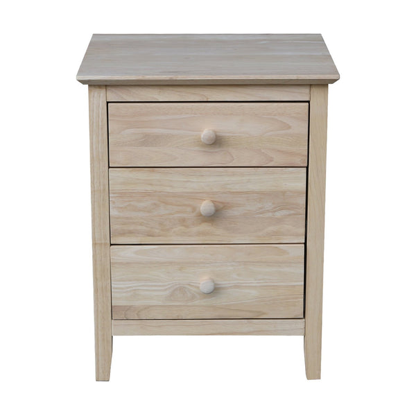 Brooklyn 3-Drawer Nightstand - UnfinishedFurnitureExpo