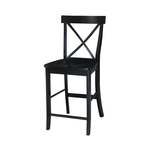X-Back Hardwood Counterstool (Finish Options)