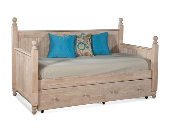 Cottage Hardwood Day Bed (Optional Trundle) - UnfinishedFurnitureExpo