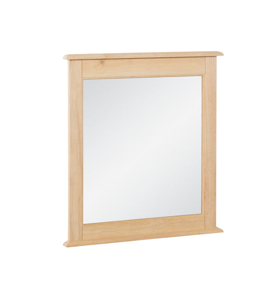 "Cottage Hardwood Mirror - 30"" x 32"" - UnfinishedFurnitureExpo"