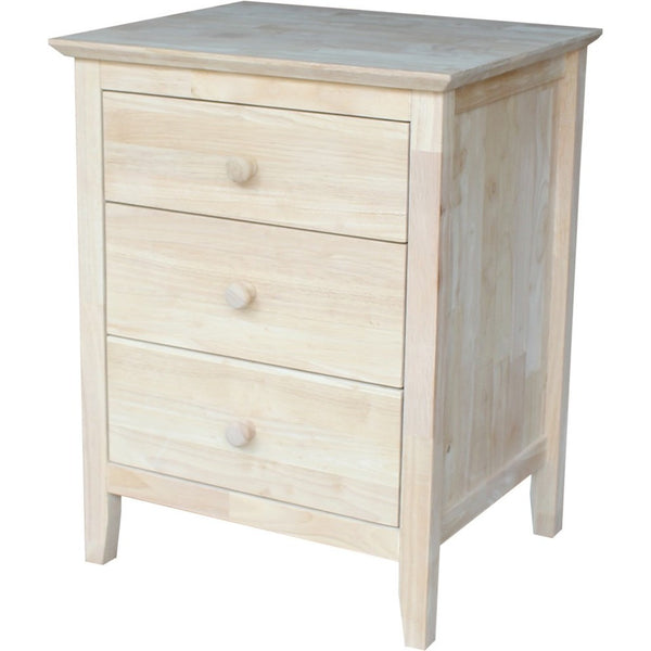 Brooklyn 3-Drawer Nightstand