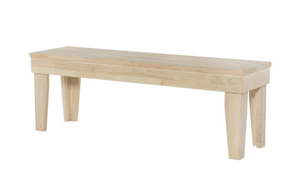 "Aspen Hardwood Bench - 52"" (Choose Finish) - UnfinishedFurnitureExpo"