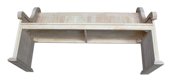 Solid Hardwood Sanctuary Bench with Arms