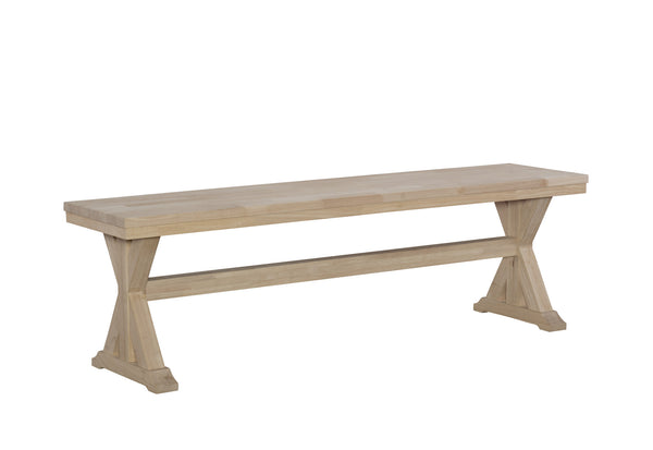 "Canyon Trestle Bench - 60"" - UnfinishedFurnitureExpo"
