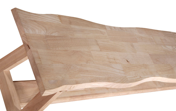 "Live Edge Style Hardwood Bench - 90"" - UnfinishedFurnitureExpo"