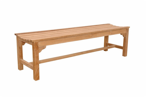 Teak Hampton 3-Seater Backless Bench - UnfinishedFurnitureExpo