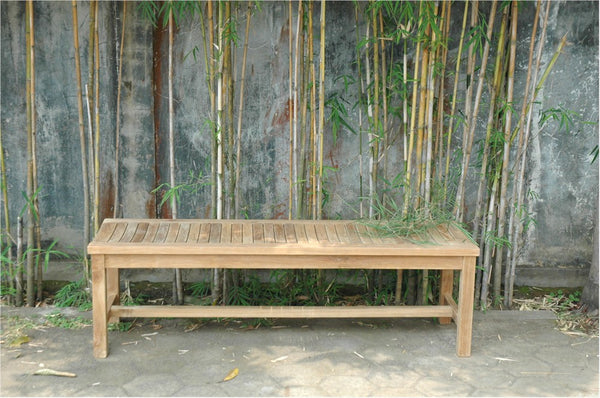 Teak Casablanca 3-Seater Backless Bench - UnfinishedFurnitureExpo