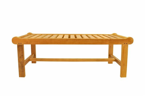 Teak Cambridge 2-Seater Backless Bench - UnfinishedFurnitureExpo