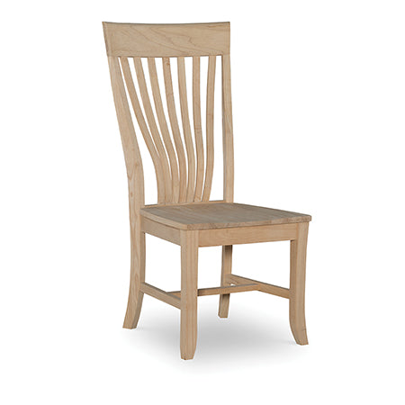"""Amanda"" Hardwood Dining Chair (2-Pack) - UnfinishedFurnitureExpo"