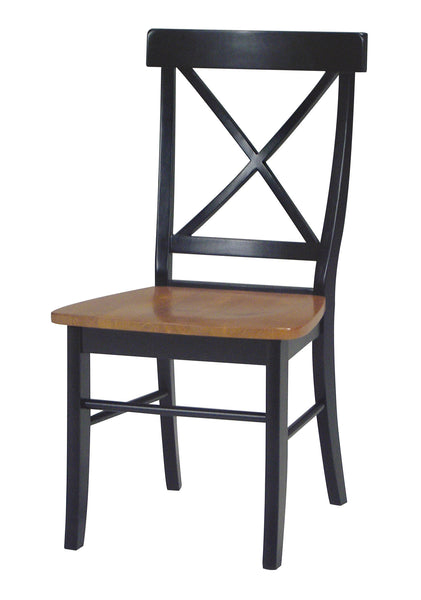 X-Back Hardwood Dining Chairs - 2 Pack (Finish Options)