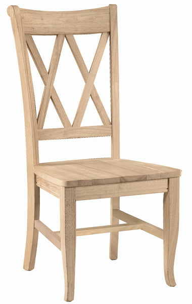 Double X Back Hardwood Dining Chairs - 2 Pack