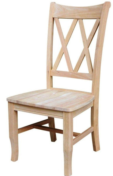 double x-back dining chair