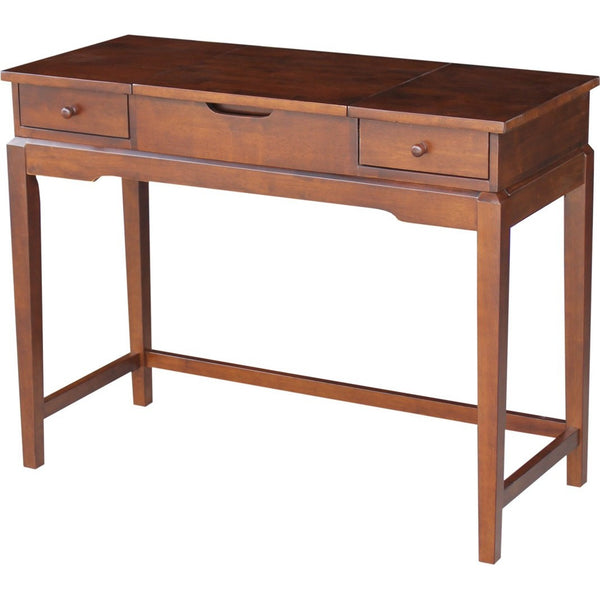 Unfinished Hardwood Deluxe Vanity Desk Free Shipping Dt