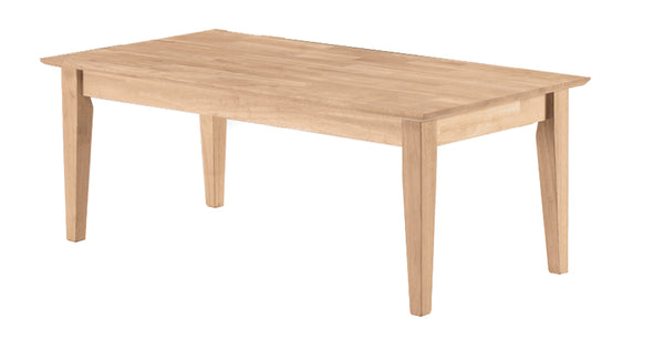 "Shaker Hardwood Coffee Table (Finished Option) - 42"" - UnfinishedFurnitureExpo"