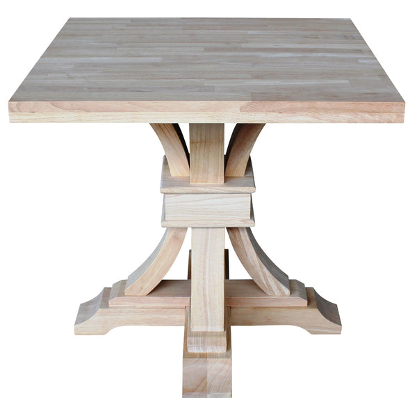 """Paige"" Hardwood End Table - UnfinishedFurnitureExpo"