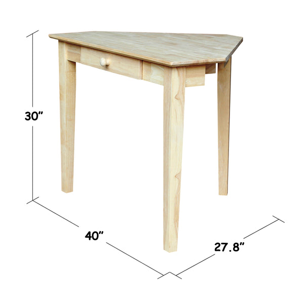 "Shaker Corner Hardwood Computer Desk - 40"" (Finished Options)"