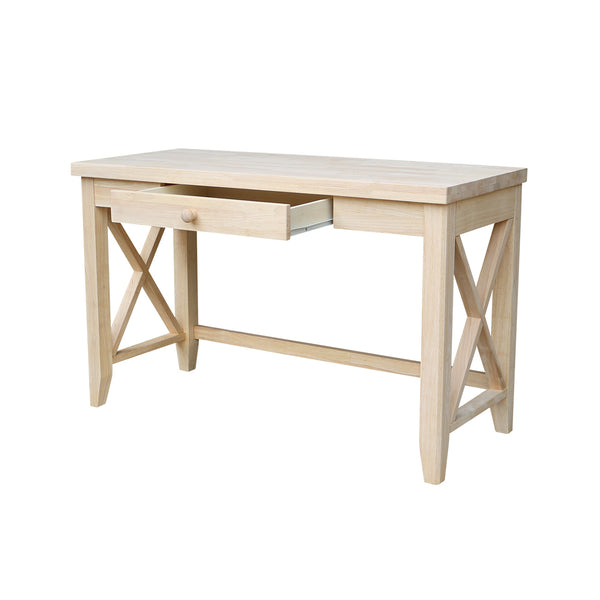 "Hampton Hardwood Desk - 48"" - UnfinishedFurnitureExpo"
