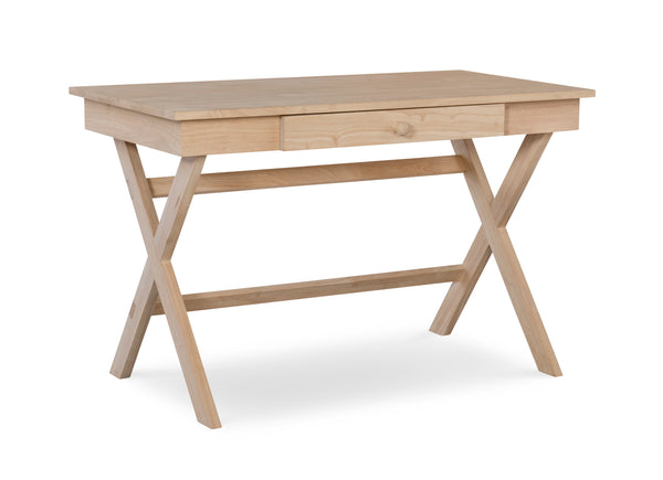"Cross Legged Hardwood Desk - 48"" - UnfinishedFurnitureExpo"