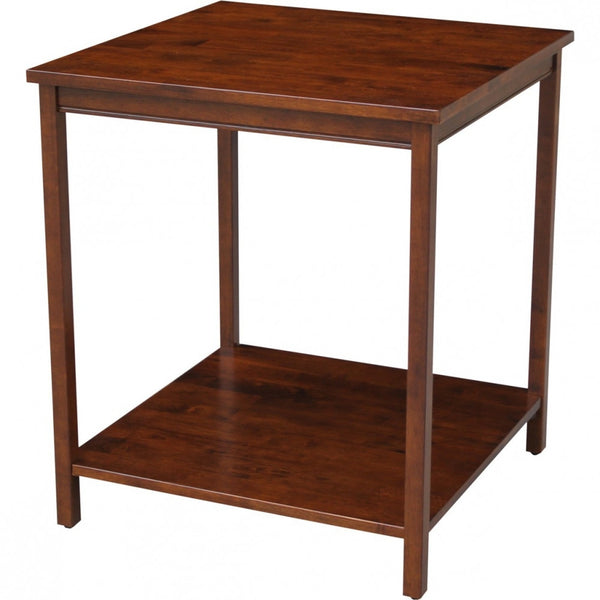 "Occasional Table with Shelf - 26"" (Finished Option) - UnfinishedFurnitureExpo"