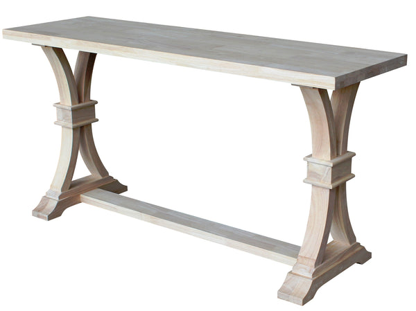 """Paige"" Hardwood Sofa Table - UnfinishedFurnitureExpo"
