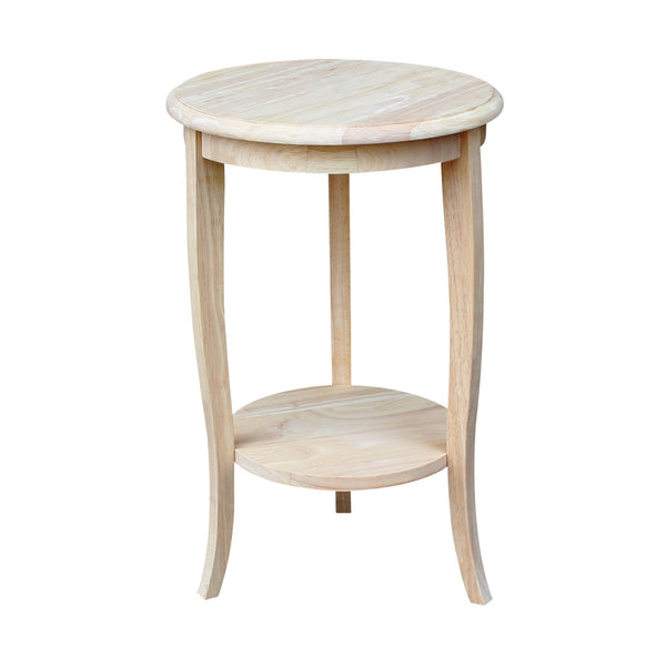 "Cambria Unfinished Hardwood Side/Accent Table - 16"" Diameter"