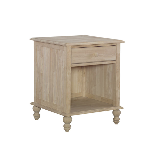 "Cottage Hardwood End Table - 22"" - UnfinishedFurnitureExpo"