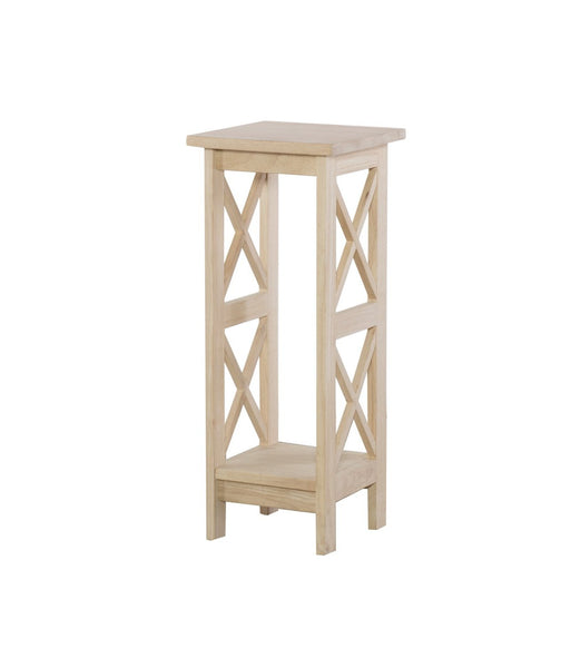 "X Side Plant Stand - 30"" - UnfinishedFurnitureExpo"