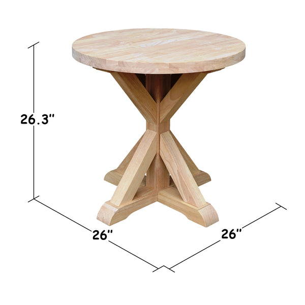 "Sierra Round End Table - 26"" - UnfinishedFurnitureExpo"