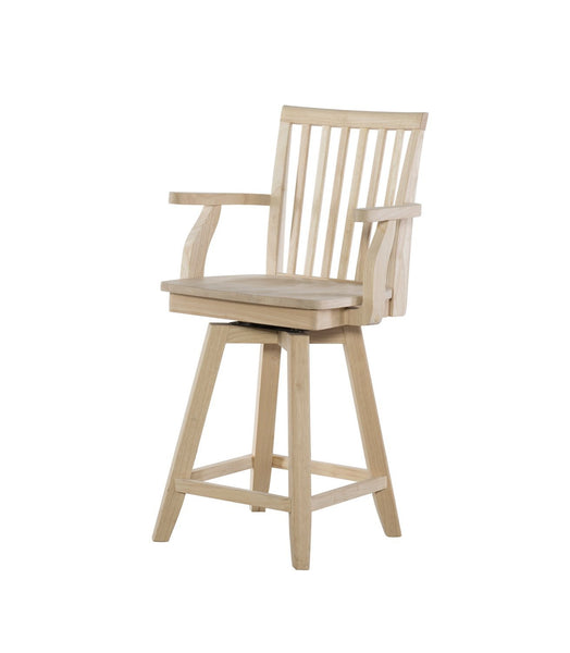 Mission Swivel Hardwood Counterstool with Arms