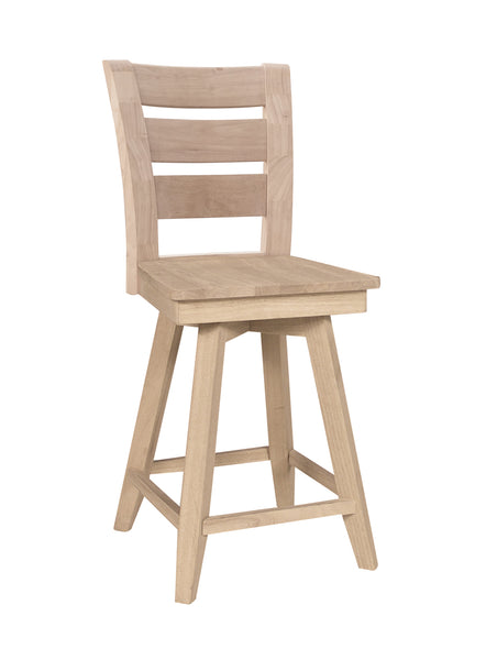 Tuscany Hardwood Counter Swivel Stool
